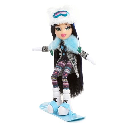 #SnowKissed Doll- Jade, Bratz #SnowKissed Doll Jade loves to hit the slopes with her snowboard in her fuzzy cat-ear hat and stylish winter outfit By Bratz Ship from