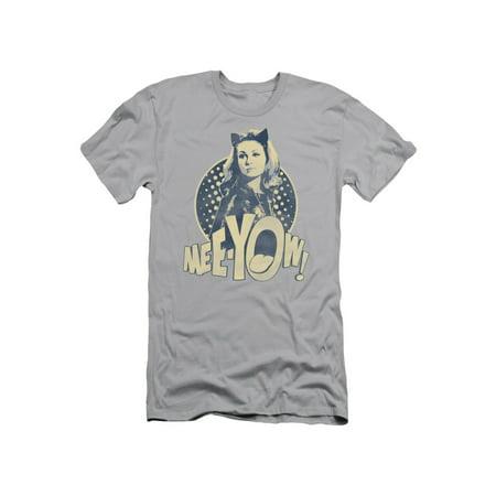 Batman Classic TV DC Comics Catwoman Meeyow! Adult Slim T-Shirt - Batman And Catwoman Couple Shirts