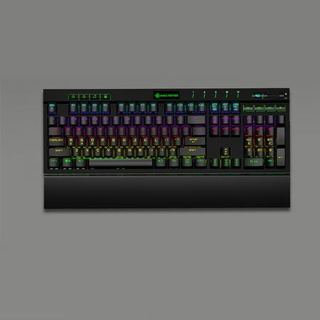 Magic-Refiner MK12 Mechanical Gaming Keyboard USB Wired 12 RGB 19 Backlight Mechanical Optical Switch 104 Keys For Gamer Office E-Sports - image 4 de 7