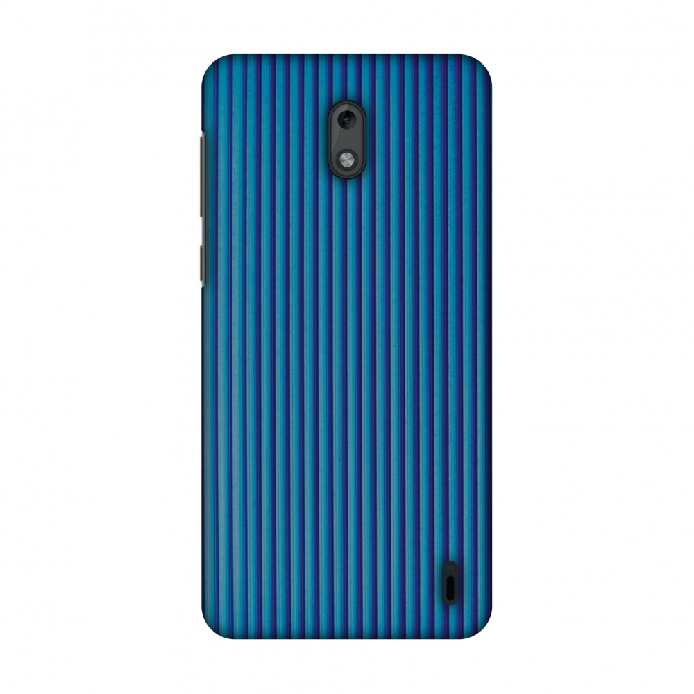Nokia 2 Case, Premium Handcrafted Designer Hard Shell Snap On Case Printed Back Cover with Screen Cleaning Kit for Nokia 2, Slim, Protective - Carbon Fibre Redux Coral Blue 16