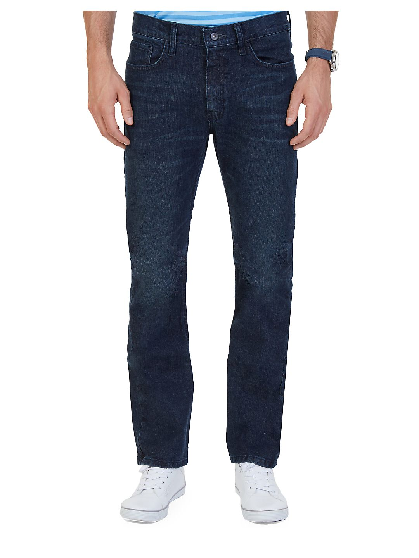 Stretch Straight-Leg Jeans