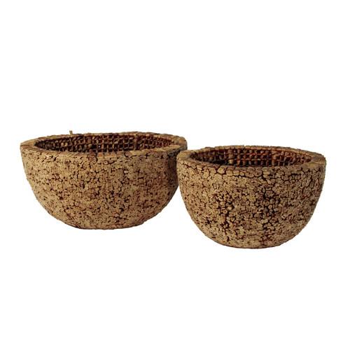 Ibolili Knotted Round Water Hyacinth Decorative Bowl (Set of 2)
