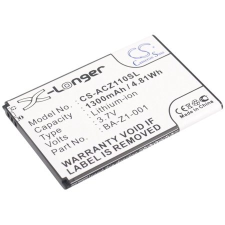 Replacement Battery For Acer 3.7v 1300mAh / 4.81Wh Mobile