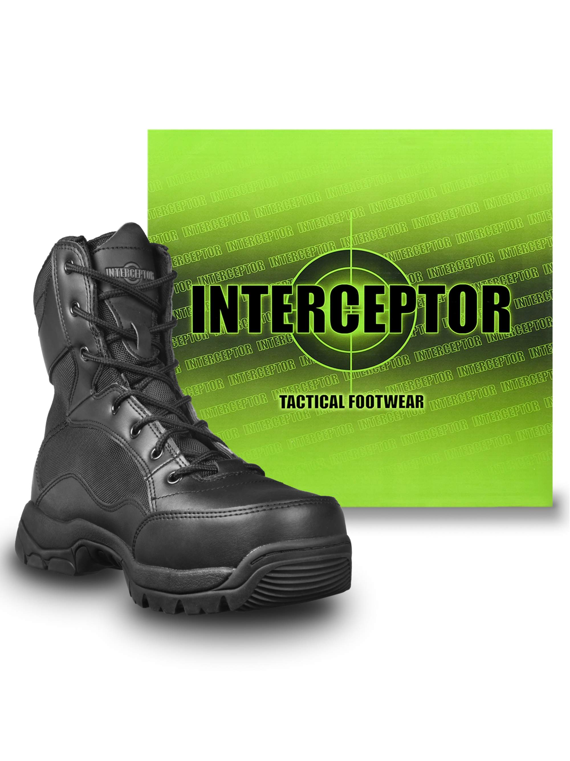ac1cce0459 Interceptor - Interceptor Men's Force Tactical Steel-Toe Work Boots ...