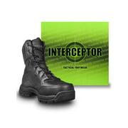 Interceptor Men's Force Tactical Steel Toe Work Boots, Black Leather