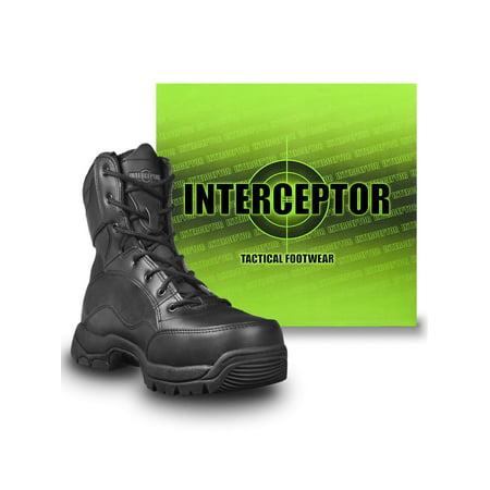 Interceptor Men's Force Tactical Steel-Toe Work Boots, Black