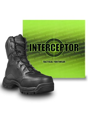 c40913f13705 Product Image Interceptor Men's Force Tactical Steel-Toe Work Boots, Black  Leather