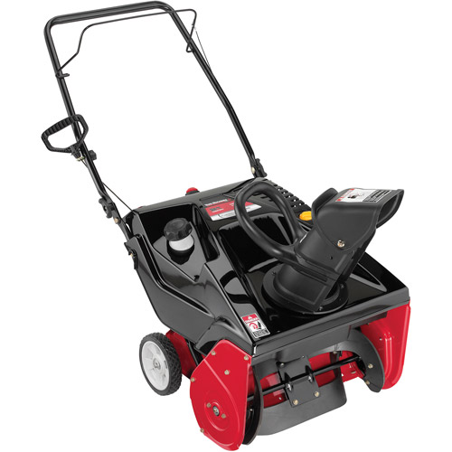 "Yard Machines 21"" 179cc Single-Stage Snow Blower with Electric Start"
