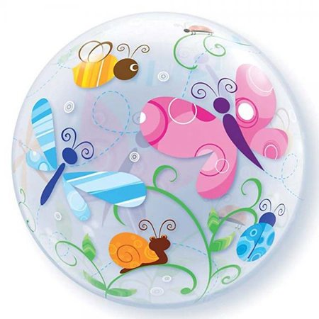 Garden Bugs and Insects Bubble Shaped Balloon Party Accessory