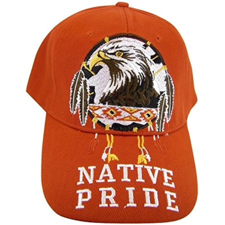 Native Pride Eagle Men's Adjustable Baseball Cap (Red)