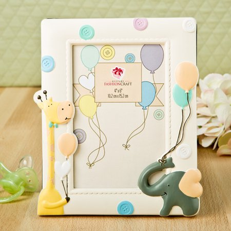 Fashion Craft Adorable Giraffe and Elephant Baby Picture Frame ...