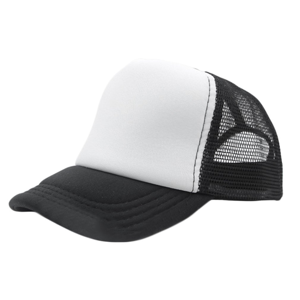 a0879dad Fashion Summer Cap Trucker Mesh Hat Baseball Sunshade Cap Adjustable Hats  Casual Outdoor Travel Caps for Men Women black white | Walmart Canada