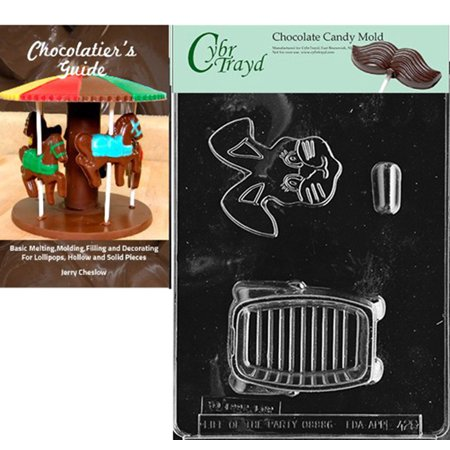 Cybrtrayd 3D Bunny Pour Box Easter Chocolate Candy Mold with Our Chocolatier's Guide Instructions Manual