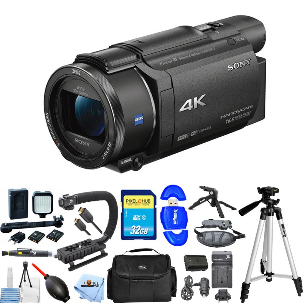 UNASSIGNED Sony FDR-AX53 4K Ultra HD Handycam Camcorder (Black) PRO BUNDLE