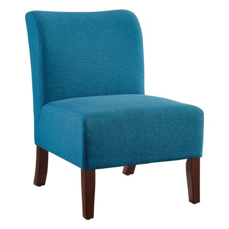 Linon Julie Curved Back Slipper Chair, 18 inch Seat Height, Multiple Colors Color Slat Back Chair