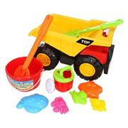 Tuscom 10pc Kids Beach Toys Set Molds Tools, Sandbox Toys On Summer Beach Holiday