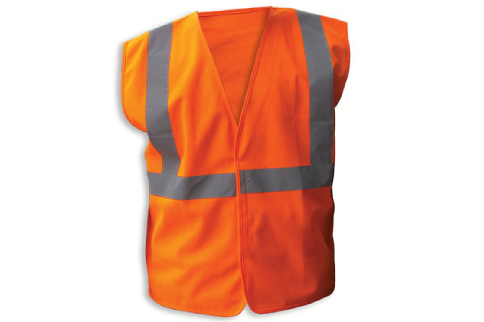 Enguard ORANGE Poly Fabric Reflective Safety Vests, Class 2 L, 3-Pack by Jaydee Group