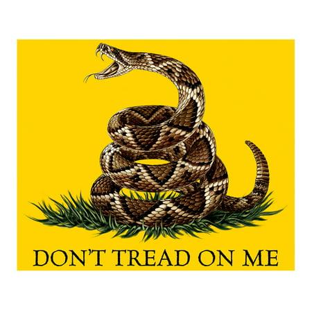Patriotic Gift For Men Women - Throw Fleece Blanket Don't Tread On Me Tea Party Yellow Gadsen Flag 50x60