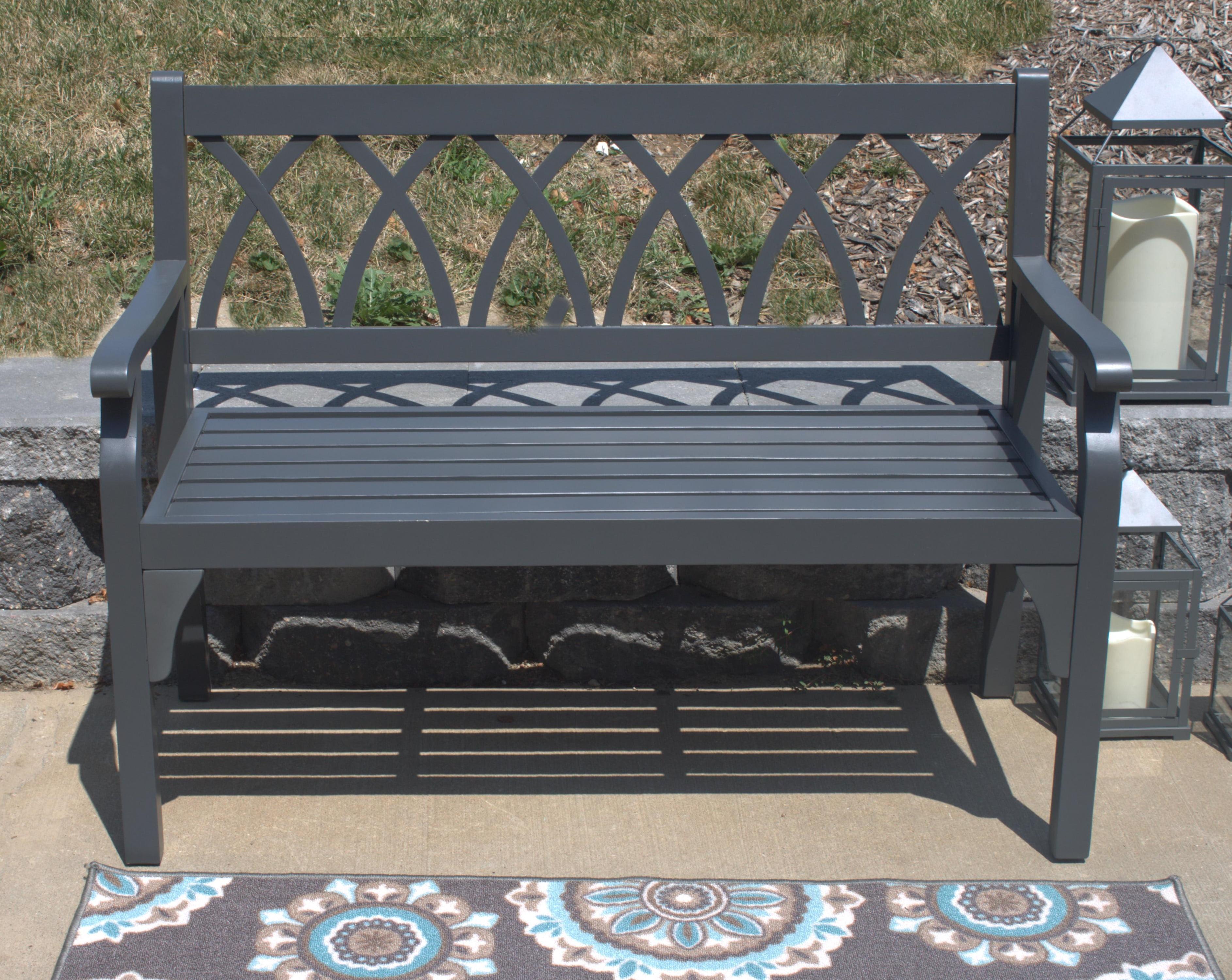Pebble Lane Living Elegant Hardwood Outdoor 2 Seater Bench ... on Pebble Lane Living id=50455