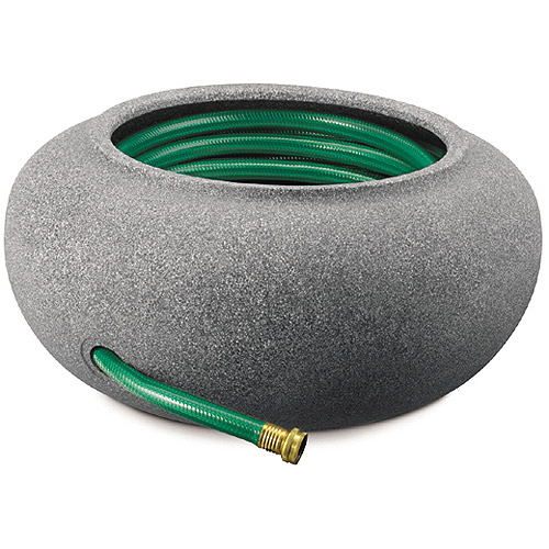 Akro Mils RZ.GH210G21 21 in Granite Garden Hose Pot & Planter