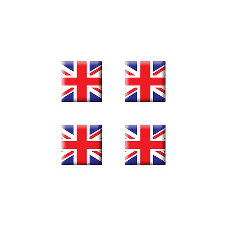 British Great Britain Flag - Set of 3D Stickers Great Britain Flag