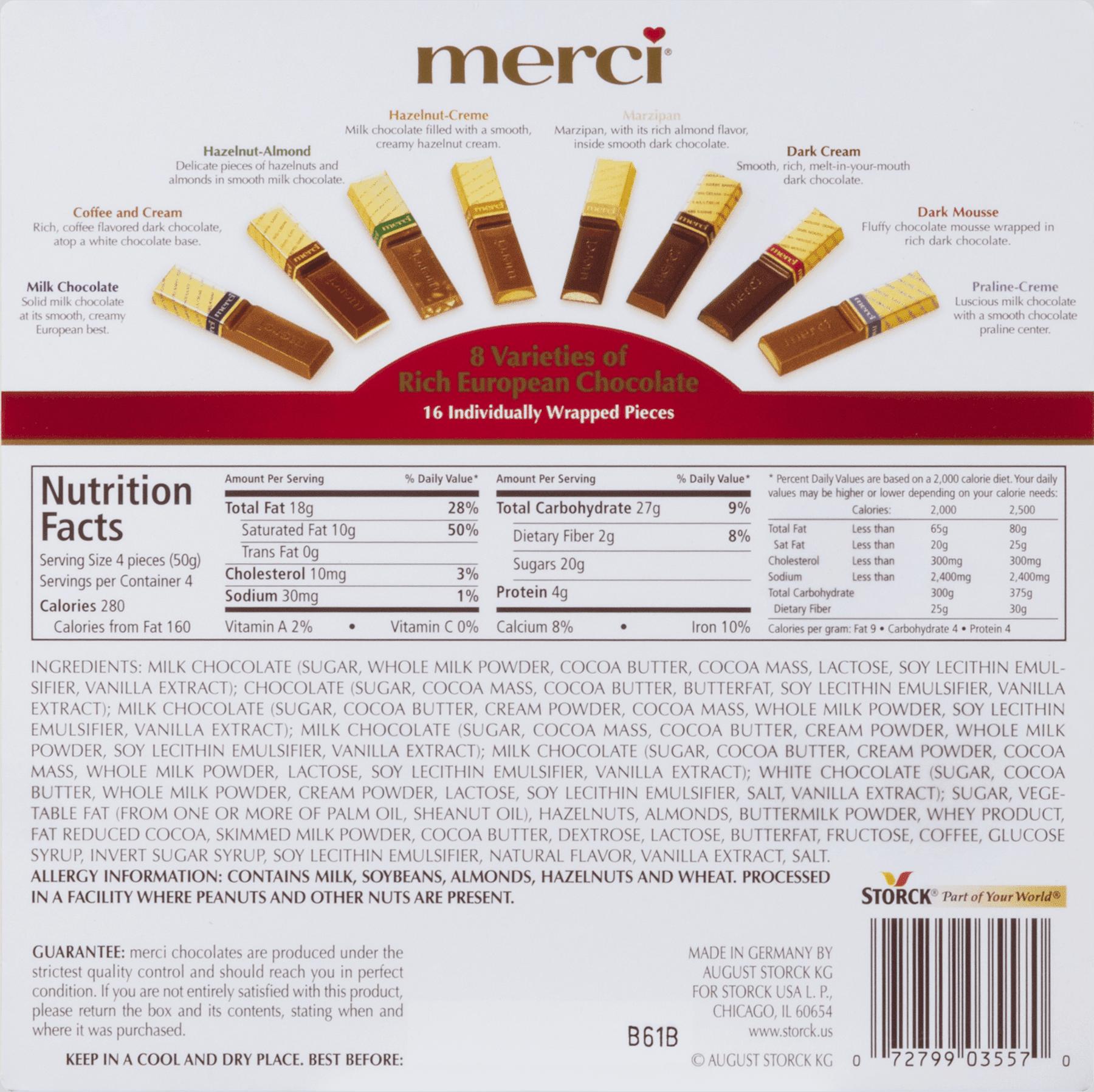 Merci Finest Assortment of European Chocolate, 7 Oz