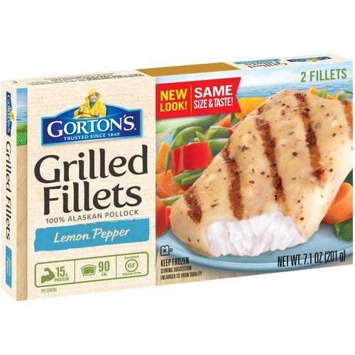 Gorton's Grilled Lemon Pepper 2 Ct Fish Fillets, 7.6 Oz
