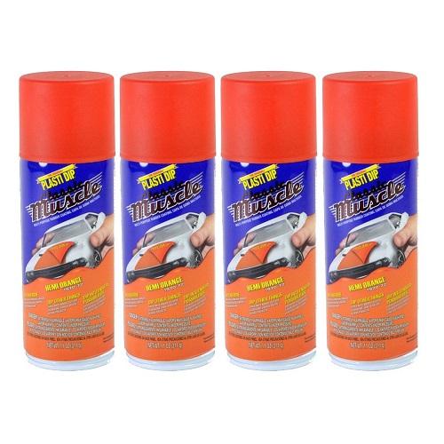 Performix Plasti Dip Muscle Car 11310 Hemi Orange Rubber Spray 4 PACK