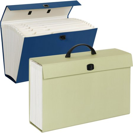 Smead Portable File Box, 19 Pockets, Assorted Colors, Legal Size