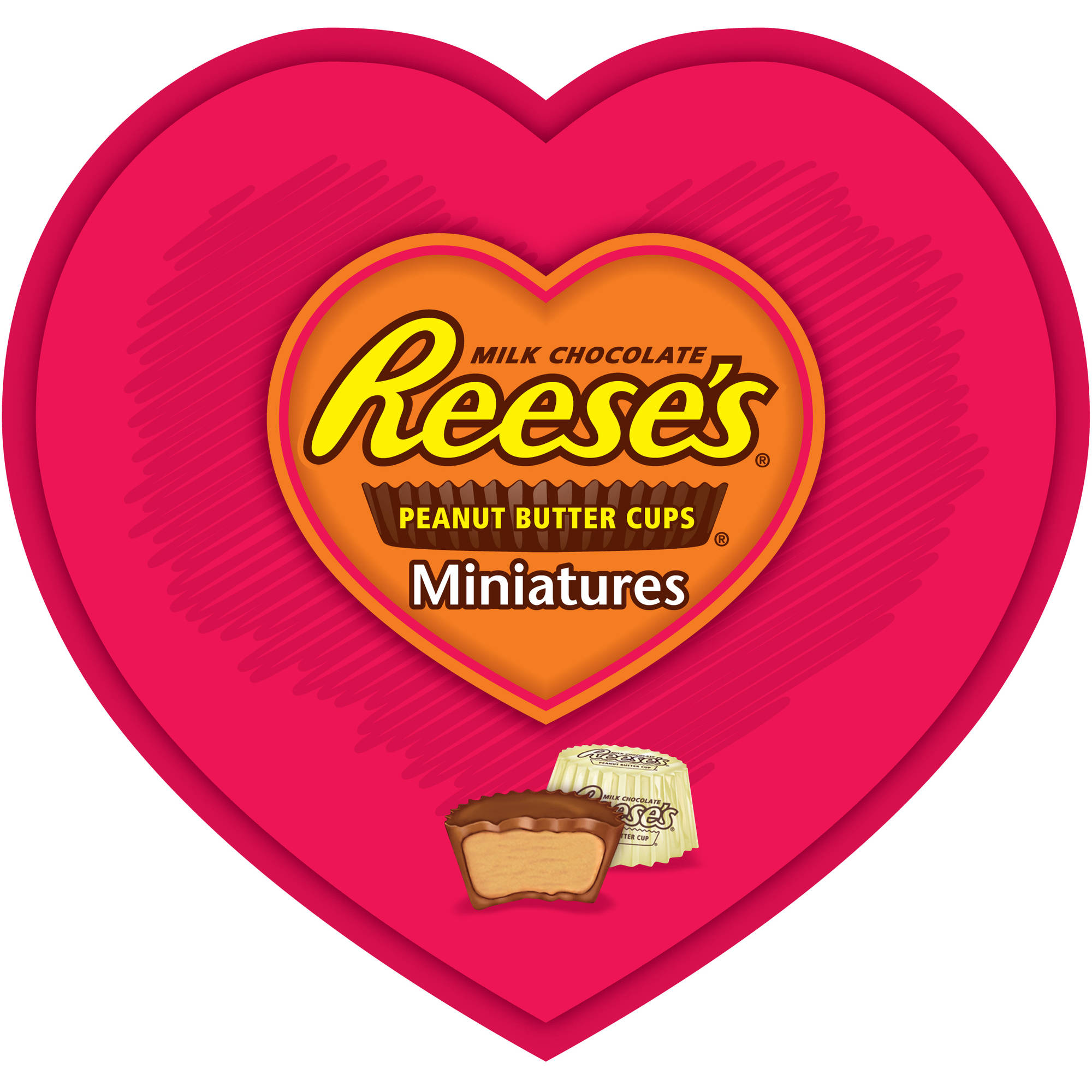 Reese's Valentine's Mini Heart Tray  Candy, 7.1 oz