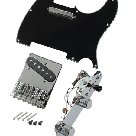 Fender Loaded Pickguard - Fender Tele Telecaster MIM Loaded Pickguard- Bridge-Pickups-Control Plate, BK