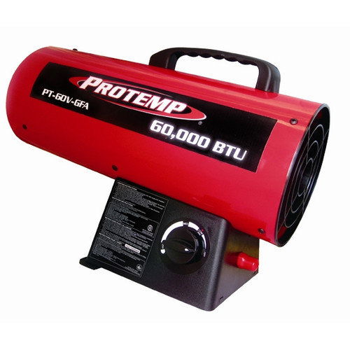 Pro-Temp 60,000 BTU Portable Propane Forced Air Utility Heater with Variable Control
