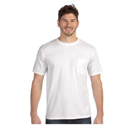Anvil Men's Double Needle Midweight Cotton Pocket T-Shirt, Style (Double Cargo Pocket Shirt)