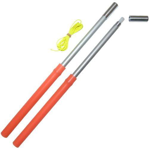 UV Orange Mr Babache Xtreme Color Silicone Grip Diabolo Hand-sticks