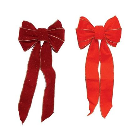 Holiday Trims Assorted Bow 9 in. Dia. x 22 in.
