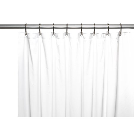 Special Sized 36 Wide 10 Gauge Vinyl Shower Curtain Liner In White