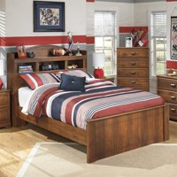 Ashley Furniture Barchan Wood Full Bookcase Bed in Brown