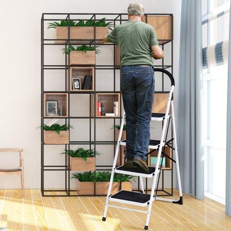 Prime 4 Step Ladder Folding Stool Heavy Duty 330Lbs Capacity Machost Co Dining Chair Design Ideas Machostcouk