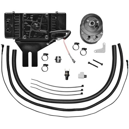 Jagg 751-FP2500 Horizontal Low-Mount 10 Row Fan-Assisted Oil Cooler Kit - -