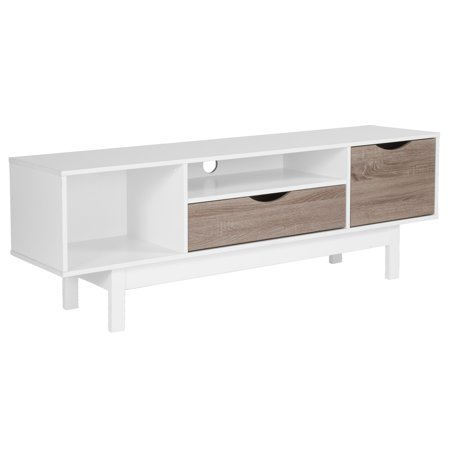 Flash Furniture St Claire Collection Tv Stand In White Finish With