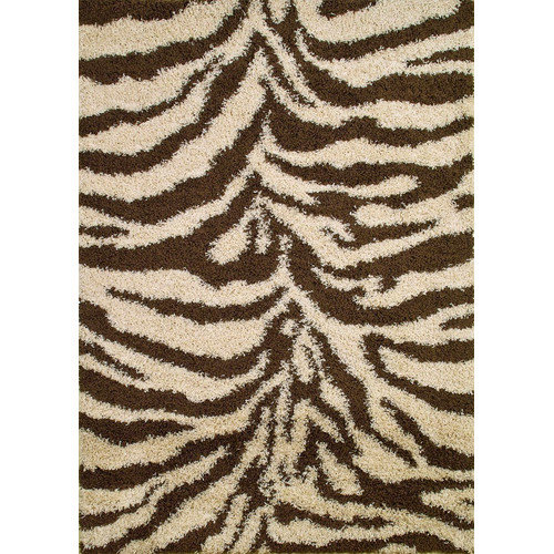 Concord Global Imports Shaggy Zebra Brown & Tan Area Rug