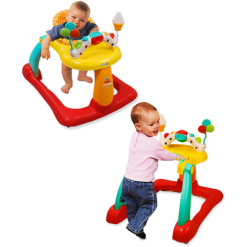 Kolcraft - Tiny Steps 2-in-1 Activity Walker with Discovery Center