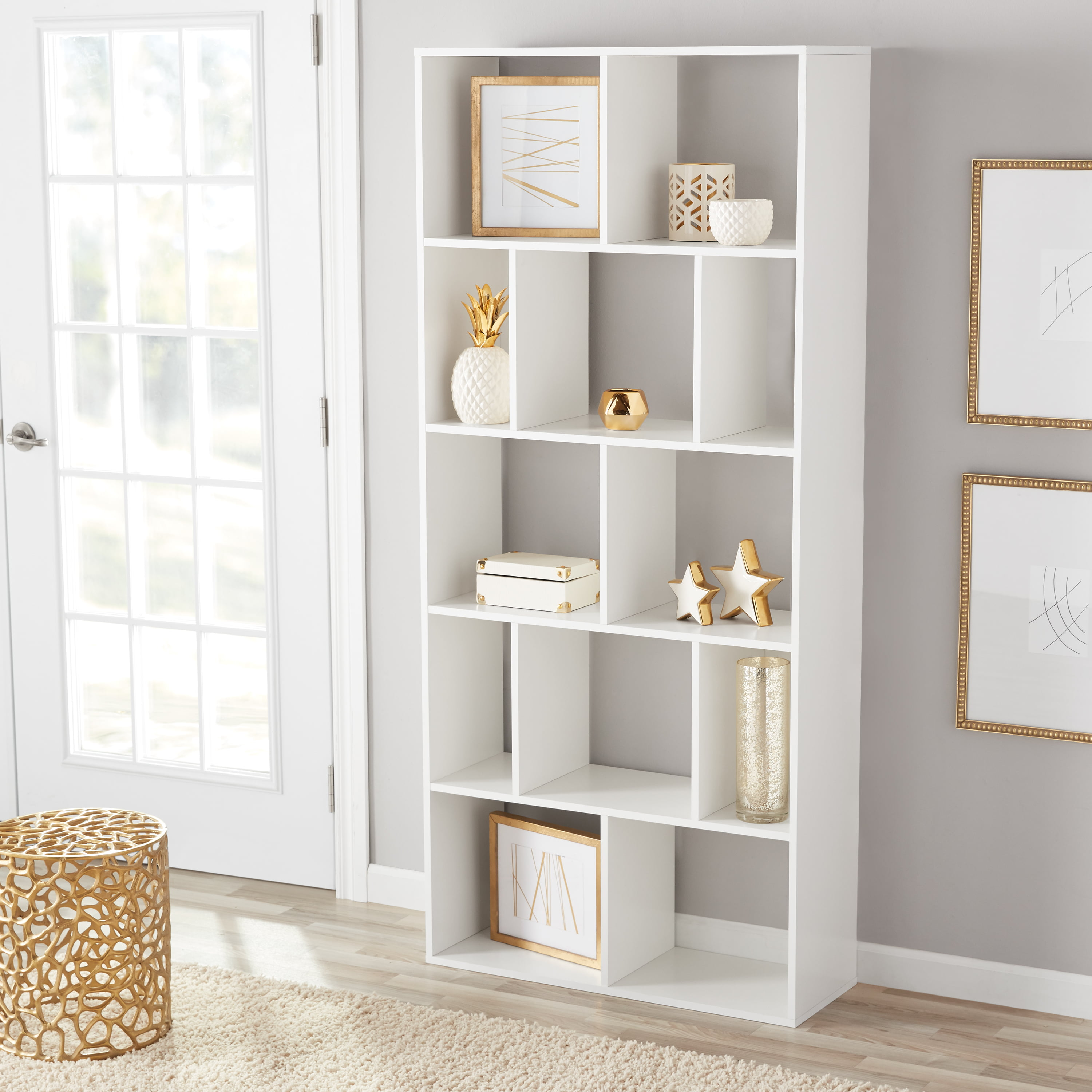 Details About New Large 12 Cube Wall Unit Cube Bookcase Storage Display Stand Room Divider