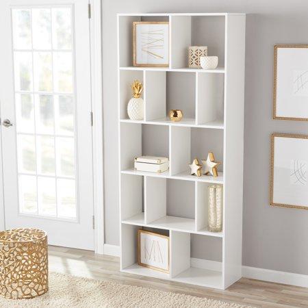 Mainstays 12 Cube Bookcase White Or Espresso