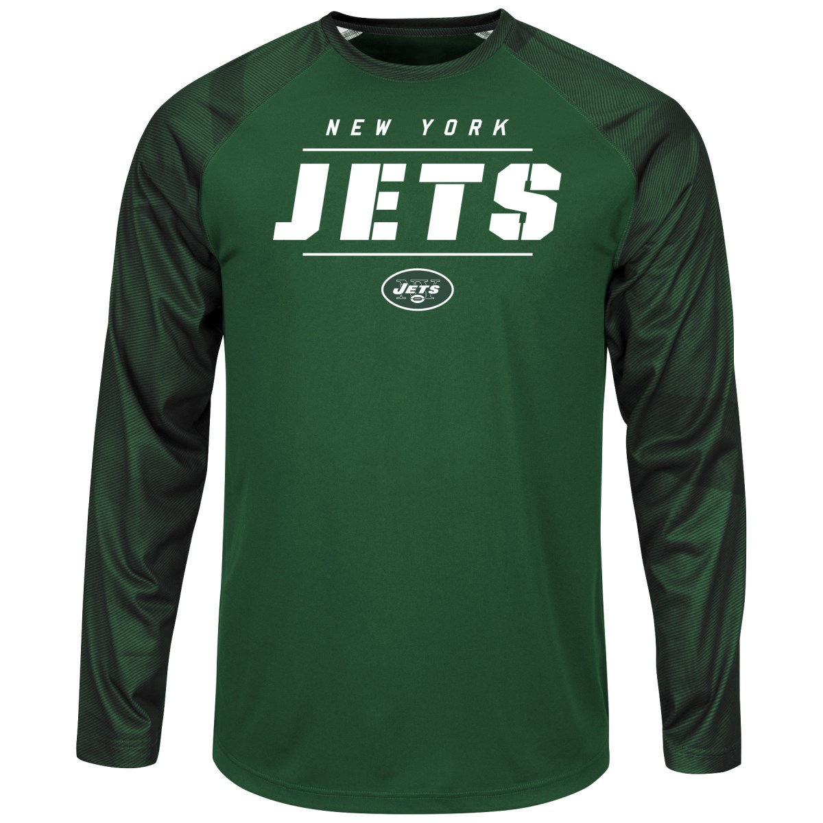 "New York Jets Majestic NFL ""League Rival"" Men's Cool Base L S Shirt by Majestic"