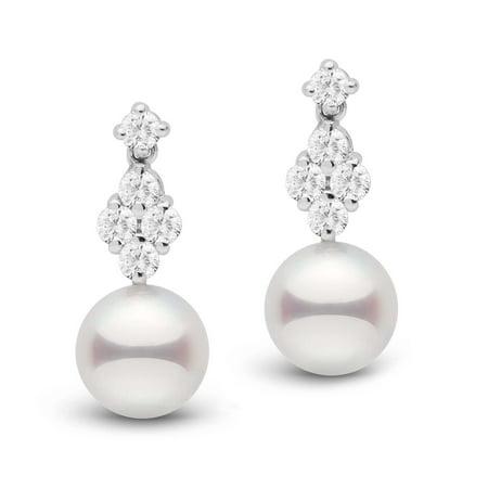 Elegance Collection Akoya 8.5-9.0 mm Pearl and Diamond (Eleganza Diamond)