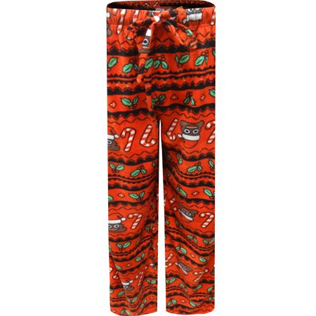 Santa Poop Christmas Microfleece Lounge Pants