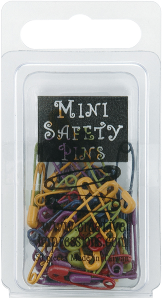 Creative Impressions Mini Painted Safety Pins 50//Package Matte Heritage Assortment