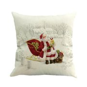 Aihome Christmas Square Linen Pillow Case Cover