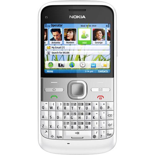 Nokia E5 Smartphone, White (Unlocked)